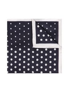 Tommy Hilfiger Tailored - Dot Cotton Silk Pocket Square -taskuliina - 0GZ NAVY/WHITE | Stockmann