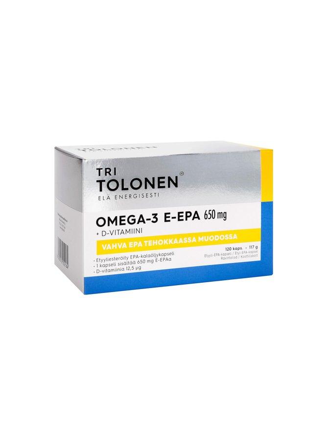 Omega-3 E-Epa 650 mg 120 kpl