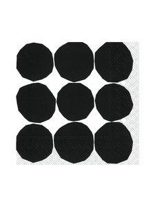 Marimekko - Kivet-servetti 33 x 33 cm - MUSTAVALKOINEN | Stockmann