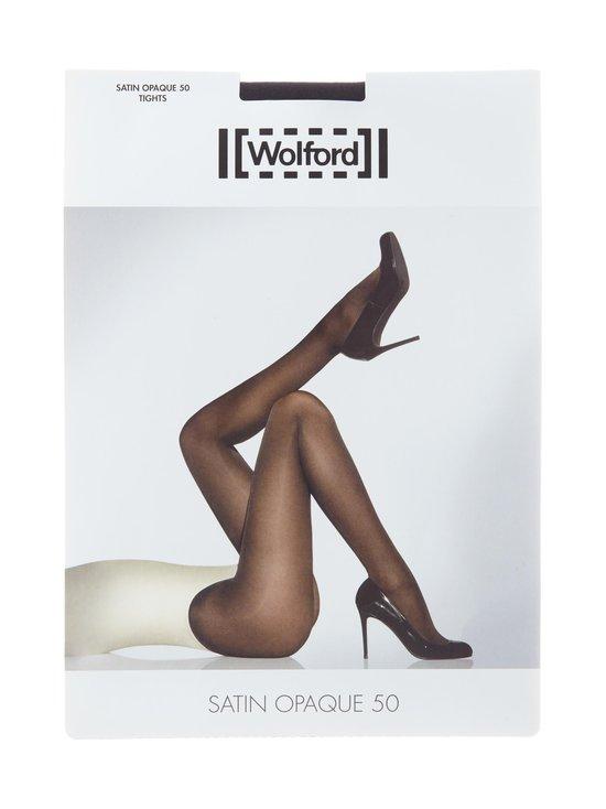 Wolford - Satin Opaque 50 den -sukkahousut - ADMIRAL (TUMMANSININEN)   Stockmann - photo 1