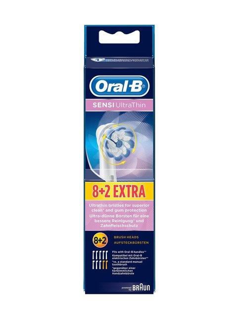Sensi UltraThin Spare Brush -harjaspää 8 + 2 kpl