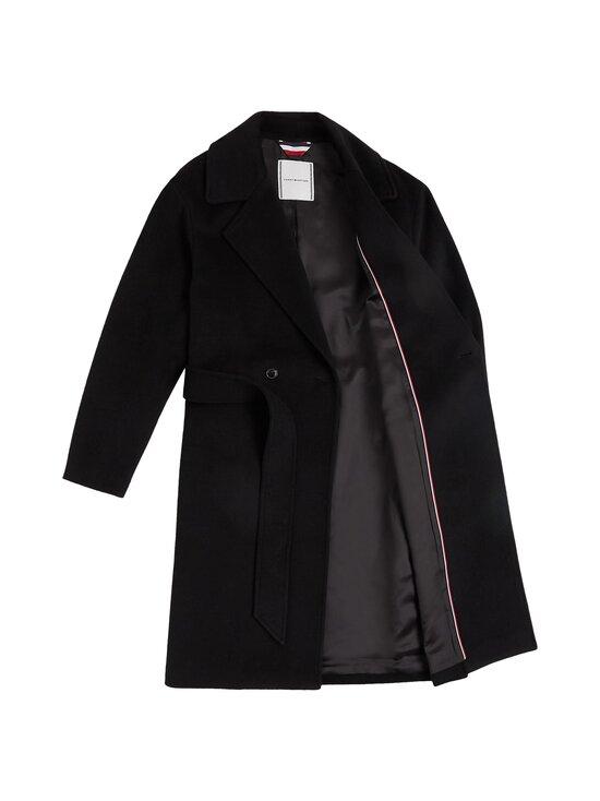 Tommy Hilfiger - Belted Coat -villakangastakki - BDS BLACK   Stockmann - photo 3
