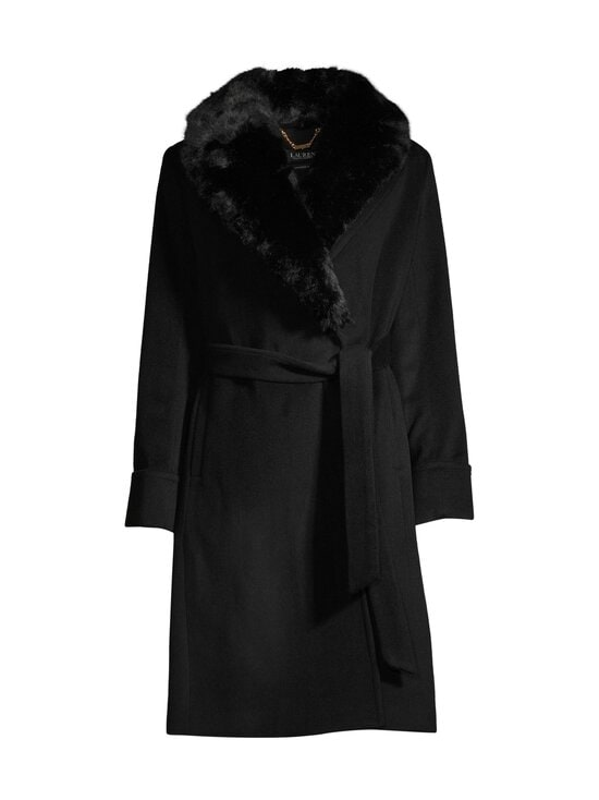 Lauren Ralph Lauren - Wool Wrap Coat -villakangastakki - 2WAH BLACK   Stockmann - photo 1