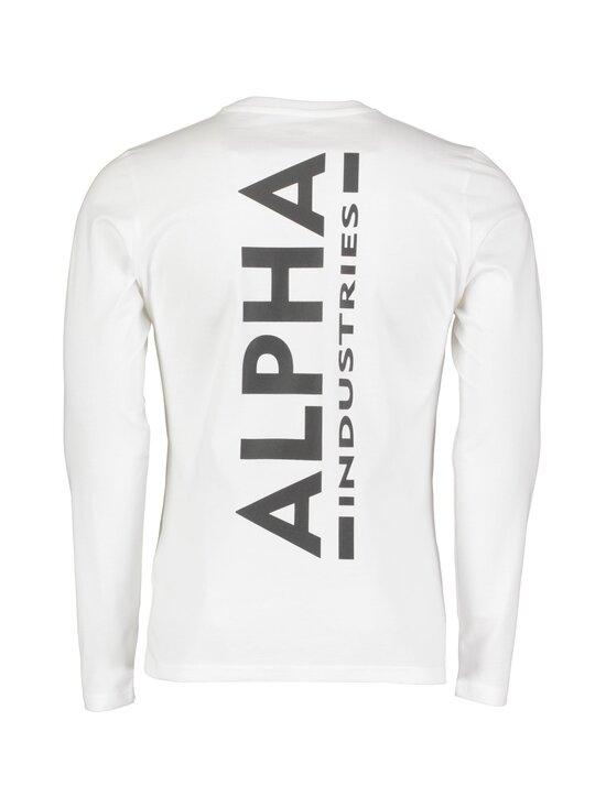 Alpha Industries - Back Print Heavy LS -paita - 09 WHITE   Stockmann - photo 2