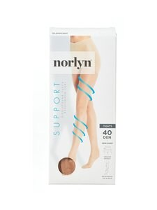 Norlyn - Support 40 den -tukisukkahousut - POWDER | Stockmann