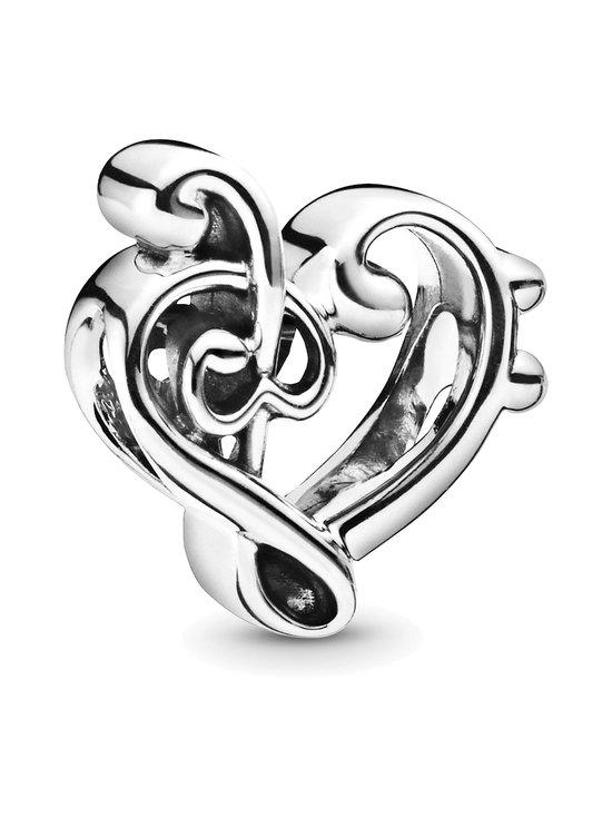 Pandora - Heart Treble Clef Sterling Silver Charm -koru - SILVER | Stockmann - photo 1