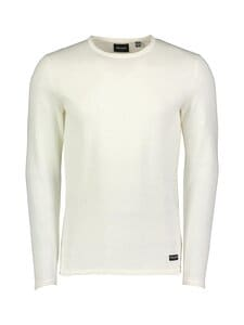 Only & Sons - OnsGarson Life 12 Wash Crew Knit -puuvillaneule - STAR WHITE | Stockmann