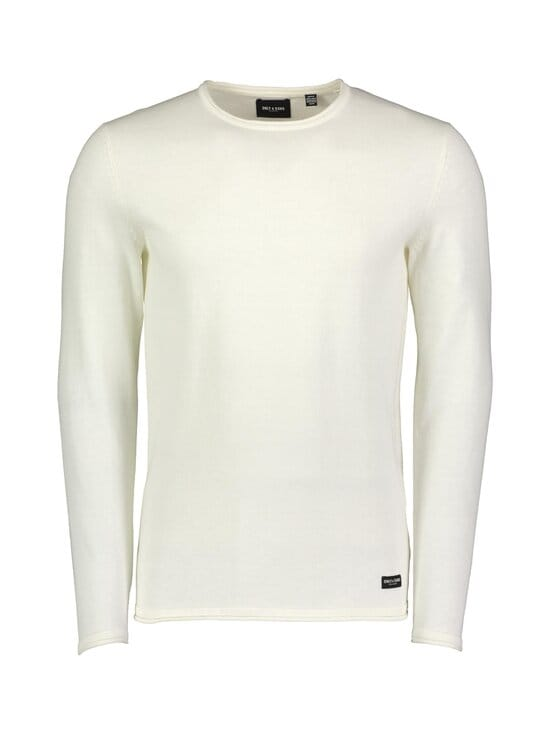 Only & Sons - OnsGarson Life 12 Wash Crew Knit -puuvillaneule - STAR WHITE | Stockmann - photo 1
