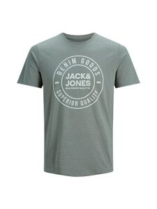 Jack & Jones - JjeJeans Tee SS Crew Neck -paita - SEDONA SAGE DETAIL:MELANGE SLIM   Stockmann