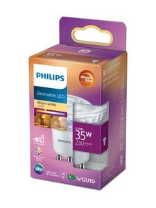 Philips - LED Spot 35W GU10 Warm Glow -spottilamppu (himmennettävä) - WHITE | Stockmann