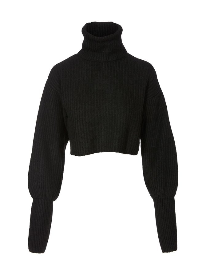 High Neck Cropped -neule