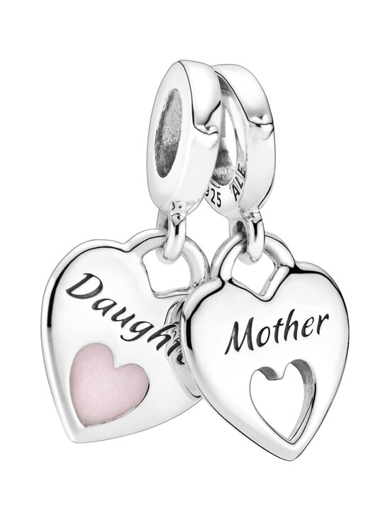 Pandora - Mother & Daughter Split Heart Dangle Charm -riipus - PINK | Stockmann - photo 1