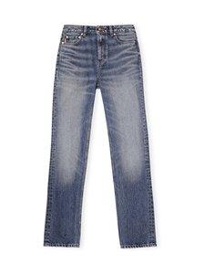 Ganni - Washed Denim High-waisted Straight Jeans -farkut - DENIM   Stockmann