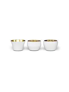 Skultuna - Kin-kynttilälyhty 3 kpl - WHITE/BRASS | Stockmann