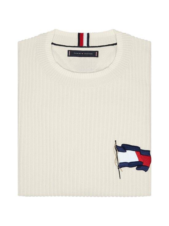 Tommy Hilfiger - Wavy Flag Graphic Rib Sweater -neule - YBI IVORY | Stockmann - photo 3