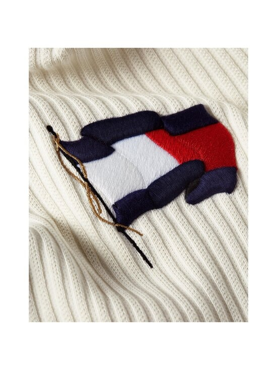 Tommy Hilfiger - Wavy Flag Graphic Rib Sweater -neule - YBI IVORY | Stockmann - photo 4