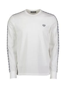 Fred Perry - Taped LS T-Shirt -paita - 129 SNOW WHITE | Stockmann