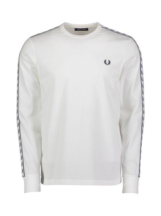 Fred Perry - Taped LS T-Shirt -paita - 129 SNOW WHITE | Stockmann - photo 1
