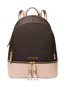 Michael Michael Kors - Rhea Zip Backpack -reppu - 266 BRN/SFTPINK | Stockmann
