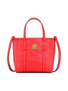 MCM - Mini Toni Shopper in MCM Monogram Leather -nahkalaukku - POPPY RED | Stockmann