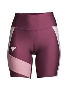 Under Armour - Project Rock HeatGear® Bike Shorts -treenishortsit - 569 LEVEL PURPLE / ROSEWATER / ROSEWATER | Stockmann