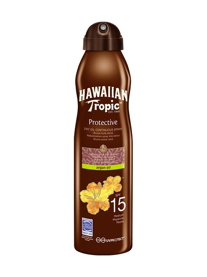 Hawaiian Dry Oil Argan C-spray SPF 15 -aurinkosuojaöljy 177 ml