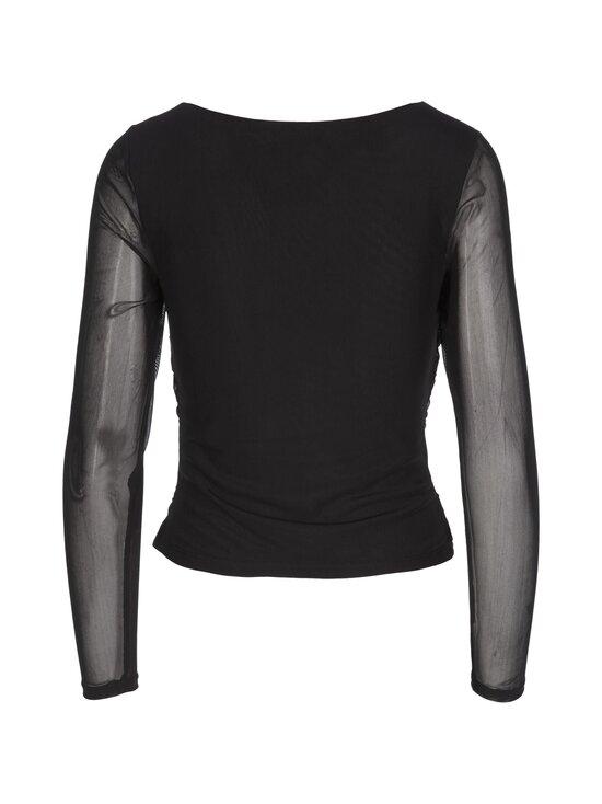 NA-KD - Ruched Long Sleeve -pusero - BLACK | Stockmann - photo 2