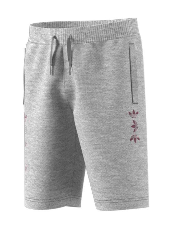 adidas Originals - Linear Logo -collegeshortsit - MEDIUM GREY HEATHER/SCARLET | Stockmann - photo 1