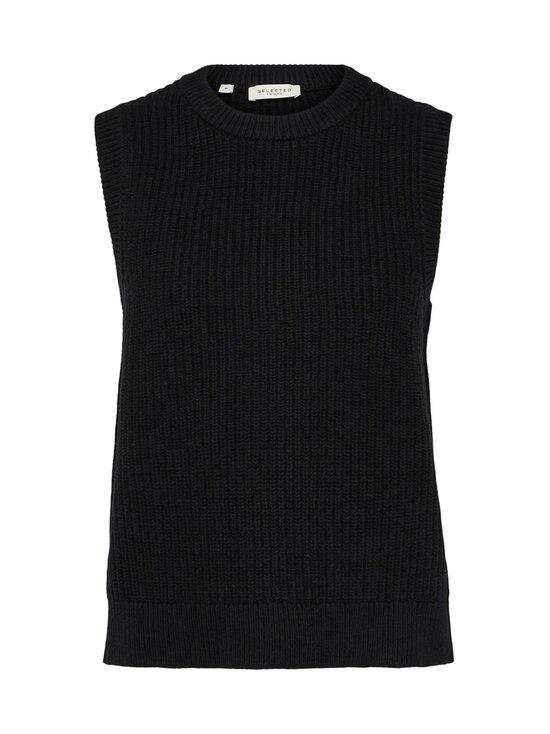 Selected - SlfJos Knit Vest -villasekoiteneuleliivi - BLACK | Stockmann - photo 1