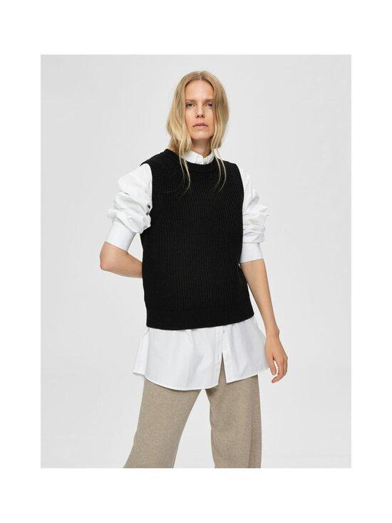 Selected - SlfJos Knit Vest -villasekoiteneuleliivi - BLACK | Stockmann - photo 3