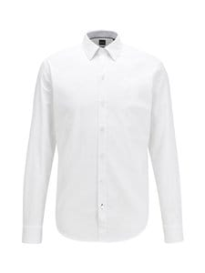 BOSS - Robbie Slim Fit -kauluspaita - 100 WHITE | Stockmann
