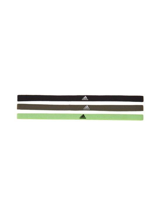 adidas Performance - Hiuspanta 3-pack - BLACK/LEGG BLACK/LEGGRN/WHITE | Stockmann - photo 1