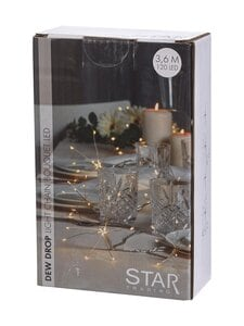 Star - Dew Drop Flower -valosarja 3,6 m - SILVER | Stockmann