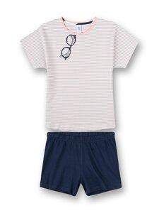 Sanetta - Glasses and Stripe -shortsipyjama - 50335 HEATHER | Stockmann