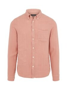 J.Lindeberg - Clean Linen Slim Shirt -pellavapaita - G020 ROSE COPPAR | Stockmann