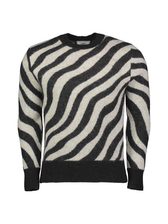 Ami - Zebra Striped Sweater -mohairsekoiteneule - NOIR/BLANC/004   Stockmann - photo 1