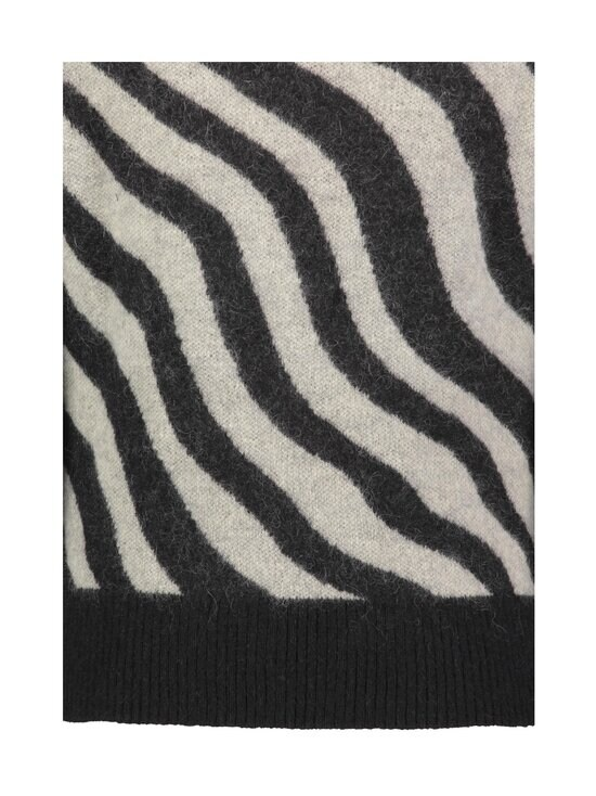 Ami - Zebra Striped Sweater -mohairsekoiteneule - NOIR/BLANC/004   Stockmann - photo 3