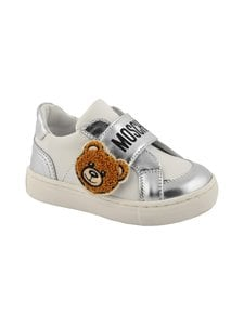 Moschino - Nahkasneakerit - WHITE/SILVER | Stockmann