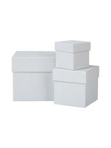 Bigso Box - Leah-säilytyslaatikko 3 kpl - VAALEANHARMAA | Stockmann