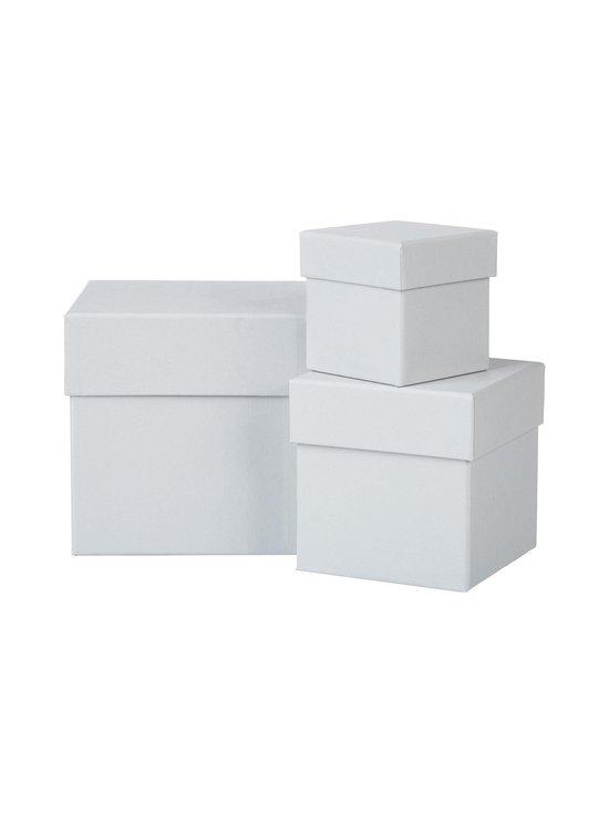 Bigso Box - Leah-säilytyslaatikko 3 kpl - VAALEANHARMAA | Stockmann - photo 1