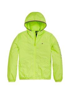 Tommy Hilfiger - Essential Hooded Logo Jacket -takki - LT4 SOUR LIME   Stockmann