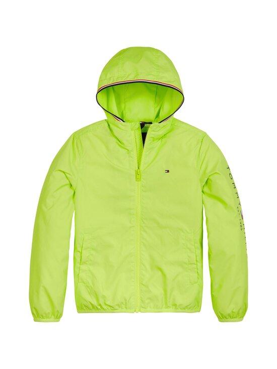 Tommy Hilfiger - Essential Hooded Logo Jacket -takki - LT4 SOUR LIME | Stockmann - photo 1