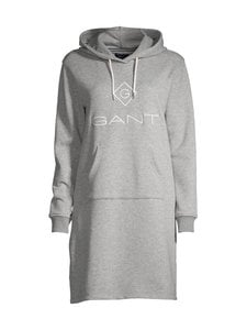GANT - Lock Up Hoodie Dress -collegemekko - 93 GREY MELANGE | Stockmann