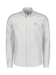 Ami - Ami de Coeur Pinstripe Shirt -kauluspaita - WHITE/BLACK/101 | Stockmann