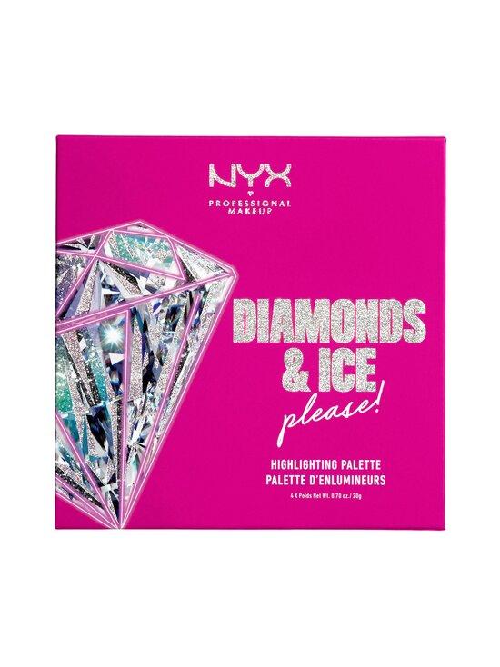 NYX Professional Makeup - Diamonds & Ice Please Quad Highlighter -korostuspuuteripaletti 80 g - MULTICOLOR | Stockmann - photo 1
