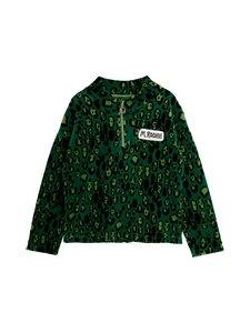 Mini Rodini - Leopard Velour Halfzip Sweater -paita - 875 GREEN | Stockmann