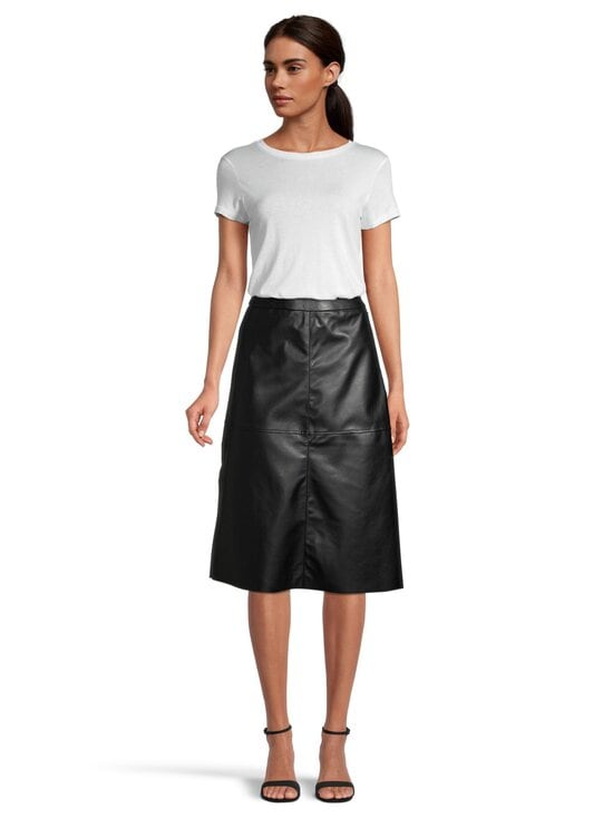 Pieces - PcSurianna High Waist Midi -tekonahkahame - BLACK | Stockmann - photo 2