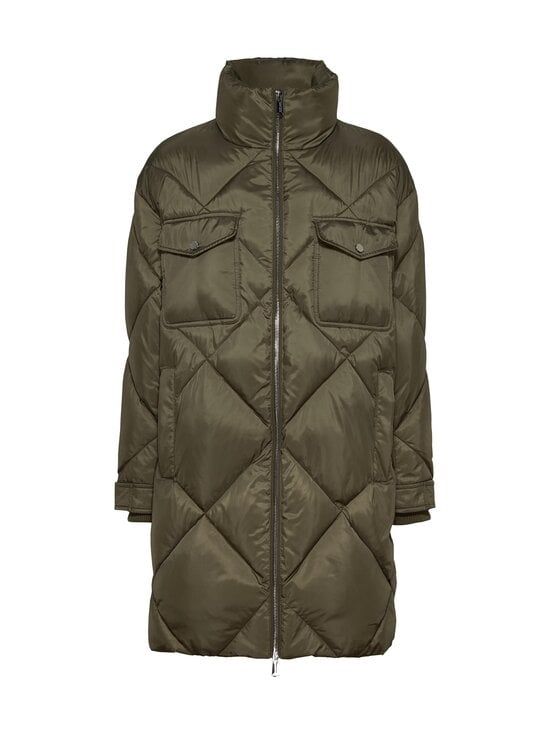 Tommy Jeans - TJW Diamond Quilted Coat -toppatakki - MSQ OLIVE TREE | Stockmann - photo 1