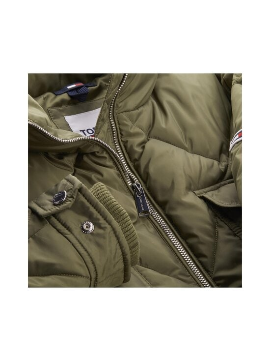 Tommy Jeans - TJW Diamond Quilted Coat -toppatakki - MSQ OLIVE TREE | Stockmann - photo 4