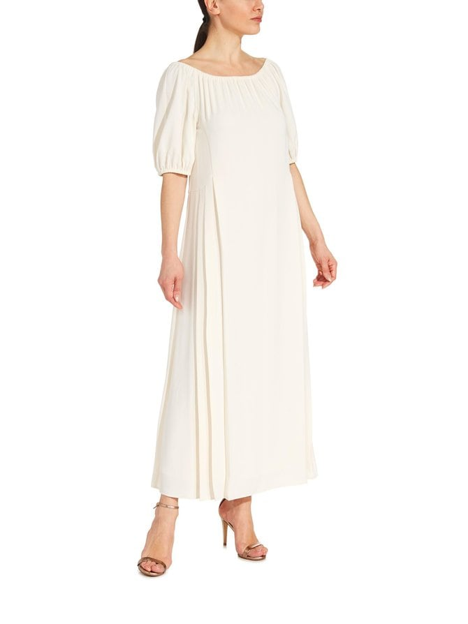 Ruched Long Dress -maksimekko